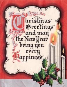 Christmas greeting illuminated